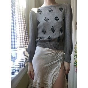 Vintage Glass Beaded Sweater-Size XS/S